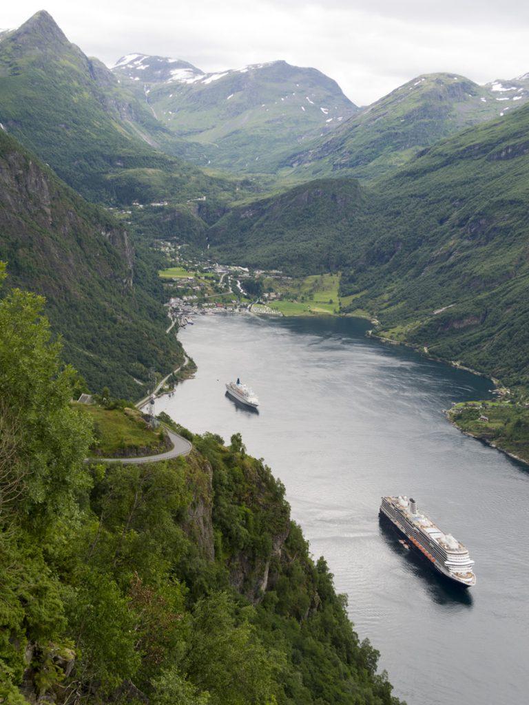 Geirangerfjord vom Ørnesving